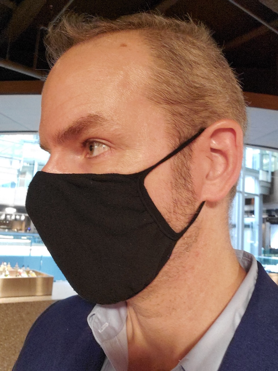 Anti-Microbial Mask - Black (Kids)