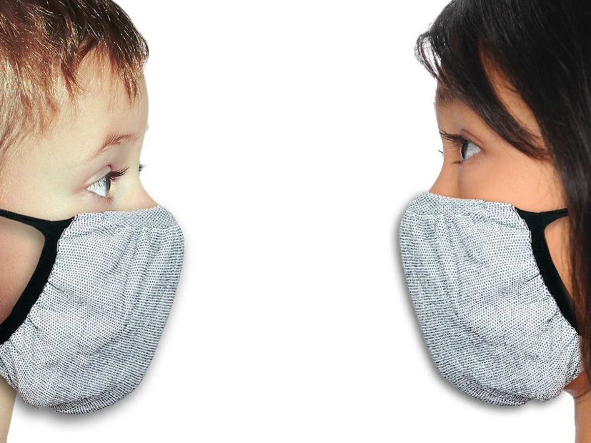Anti-Microbial Mask - Grey (Kids)