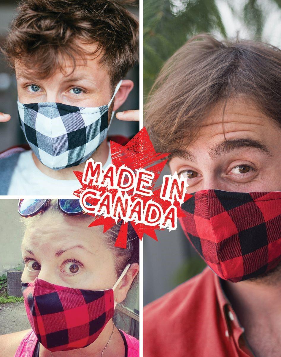 Grey Plaid Mask